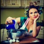 Анна Семенович в бигуди учила, как готовить завтрак любимому