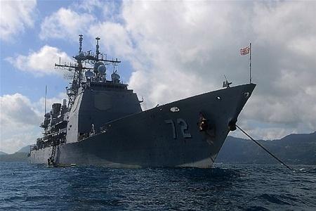 Столкновение военных кораблей сша и