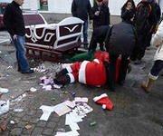 В Польше пьяная езда Санта-Клауса закончилась аварией