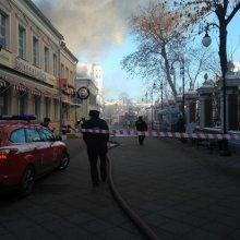 В центре Москвы горело здание XVIII века