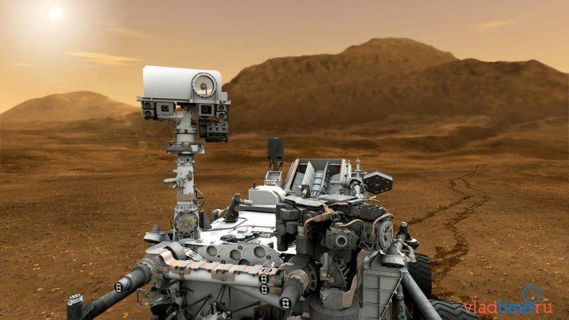 Марсоход curiosity сделал снимок нло на