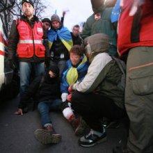 В центре Киева в результате беспорядков пострадало 185 человек