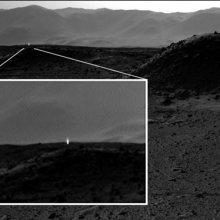 Марсоход Curiosity запечатлел загадочное яркое свечение на Марсе