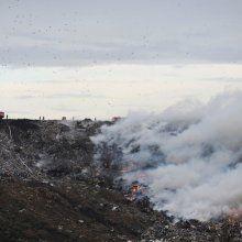 Вторые сутки не могут затушить шины на полигоне отходов возле города Бобруйск