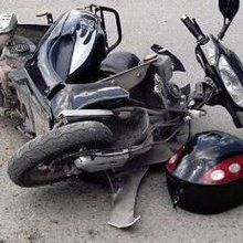 В Рязани машина сбила мопед с двумя подростками