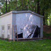 В Минске задержали граффитистов, рисовавших портрет Быкова