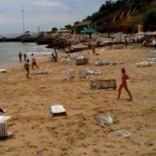 В Сети появилось видео цунами в Одессе