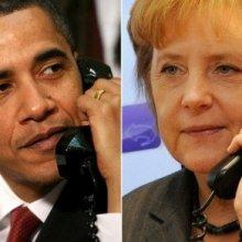 А. Меркель и Б. Обама высказались за скорейшее перемирие на Украине
