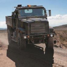 На Сахалине грузовик  с военнослужащими съехал с проезжей части