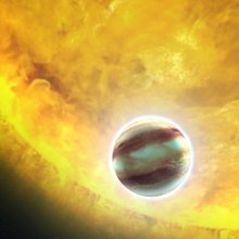 Астрономы обнаружили старящую свою звезду планету