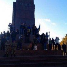В Харькове отпилили ногу Ленину