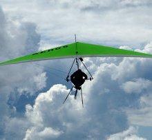 В Челябинской области потерпел крушение туристический дельтаплан