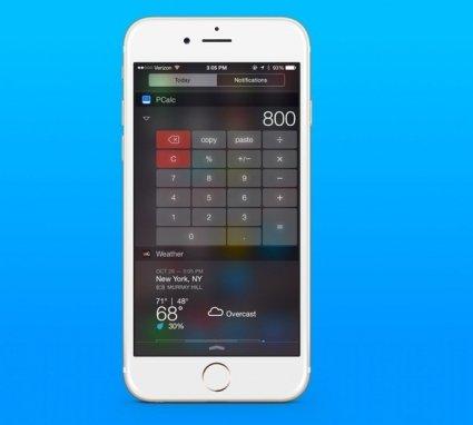Apple разрешила использовать виджет PCalc в iOS8