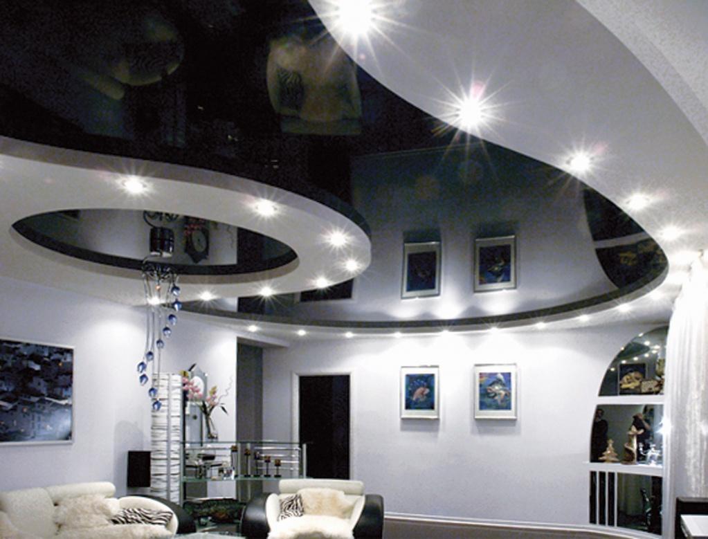 Темные потолки в дизайне