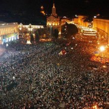 Около пяти тыс. человек в Киеве отмечают годовщину Евромайдана