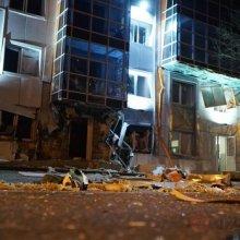 Камеры зафиксировали взрыв около бизнес-центра в Одессе