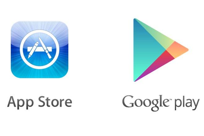 выразила картинка апп стор и плей маркет означает, что они