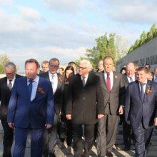 Главы МИД России и Германии возложили цветы на Мамаевом кургане