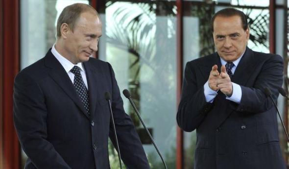 Берлускони проговорился, где Путин отмечает день рождения
