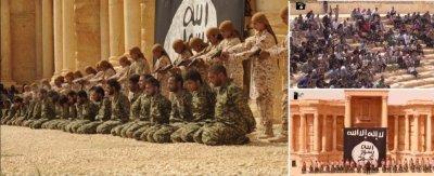 «Исламское государство» опубликовало шокирующее видео казни 25 солдат из Сирии