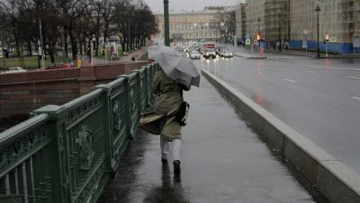 На Петербург надвигается гроза с сильным ветром