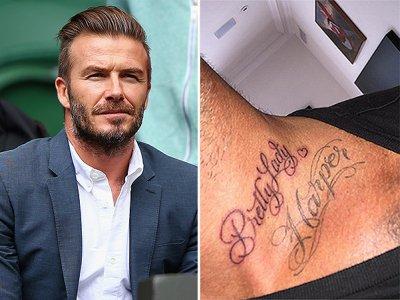 Дэвид Бэкхем сделал тату в честь дочери