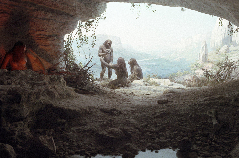 картинка неандерталец в пещере ширма трех секций