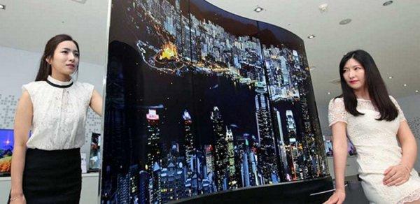 LG представила OLED-телевизор с двухсторонним изогнутым экраном