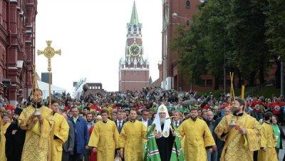 В Москве более 10 тысяч человек прошли крестным ходом