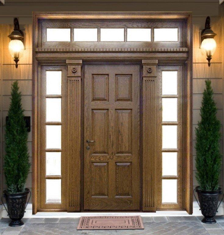 Как сделать входную дверь в частный дом