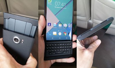 Слайдер BlackBerry Priv стал тоньше Galaxy Note 5