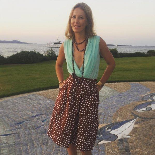 Ксения Собчак запечатлела себя в купальнике на «острове миллионеров» в Сент-Барте
