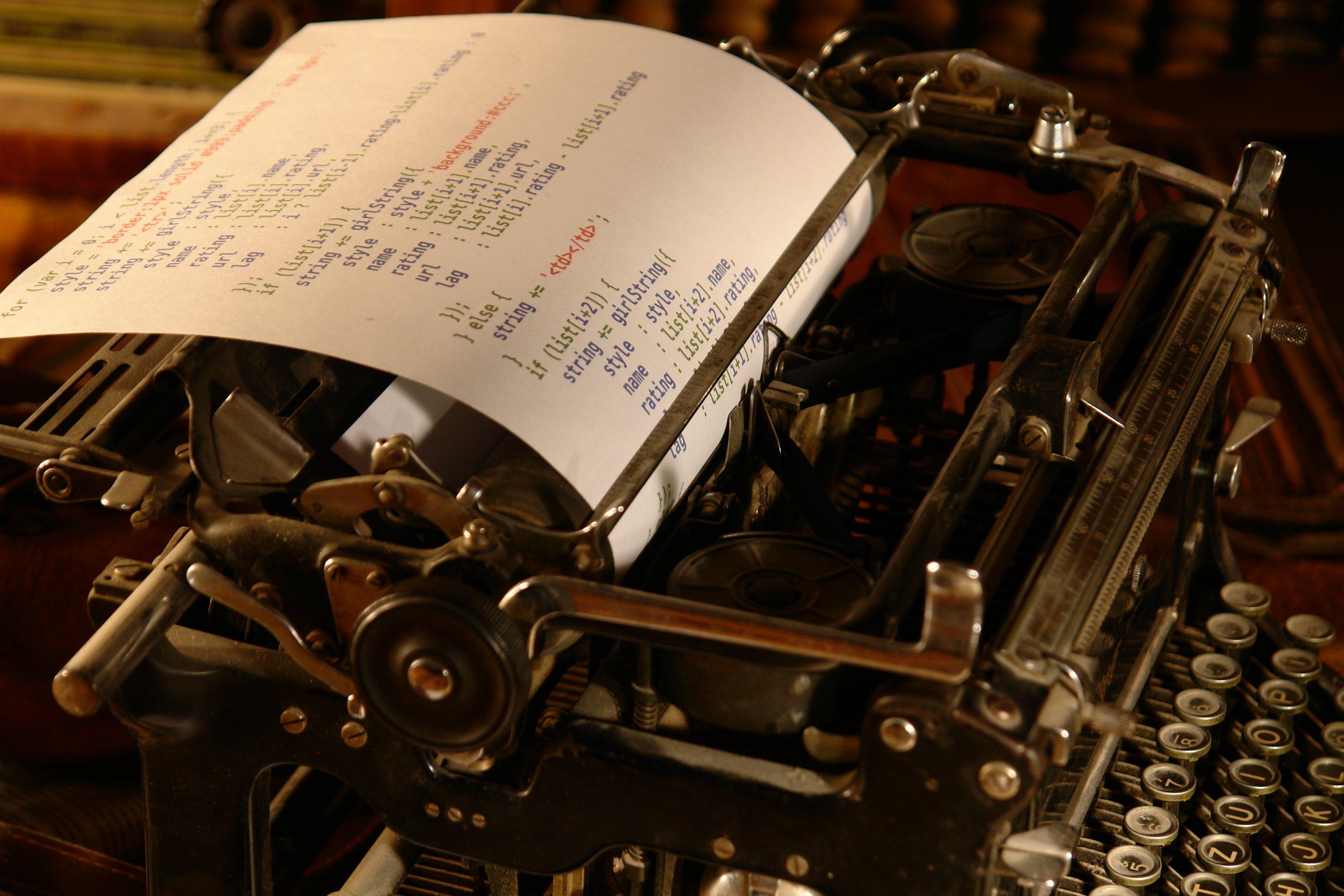 обои для рабочего стола печатная машинка № 1409205 без смс