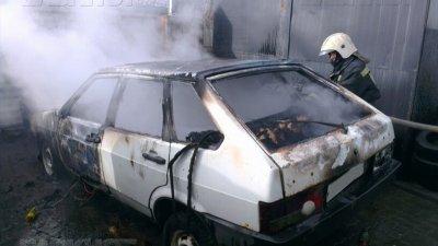 В Воронежской области сгорел ВАЗ