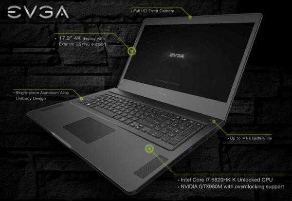 Игровой ноутбук EVGA SC17 Gaming будет стоить $  2700