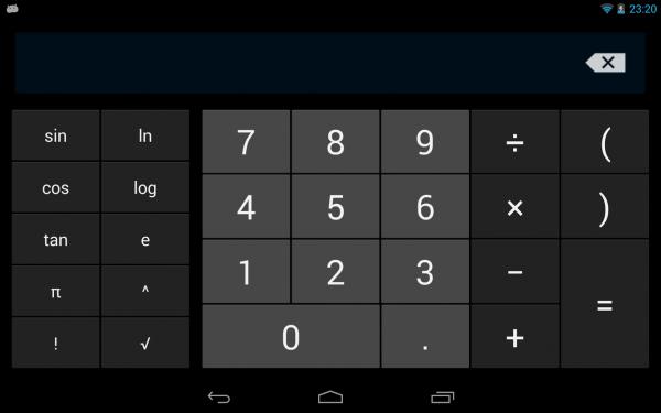 В Play Market добавлен фирменный калькулятор от Google