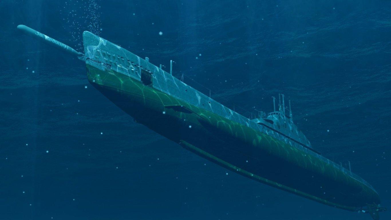 подводная лодка стрельба из подводного состояния видео