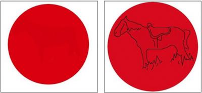 «Призрак» лошади из красного круга стал популярен у пользователей соцсетей