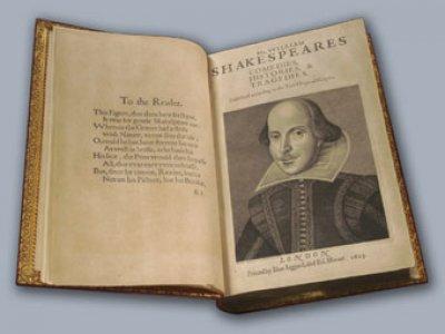 В Щотландии нашли копию первого сборника пьес Шекспира