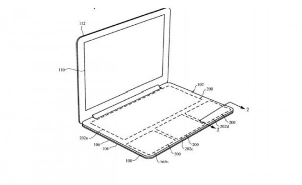 Apple запатентует ноутбук без клавиш