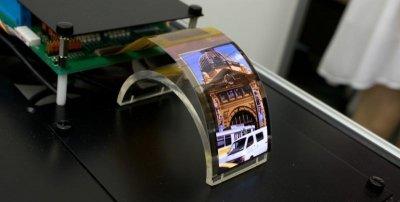 Компания Sharp показала первый прототип гибкого OLED-экрана