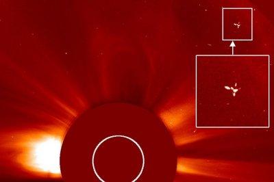 Гигантское НЛО, пролетевшее рядом с Солнцем, зафиксировал уфолог