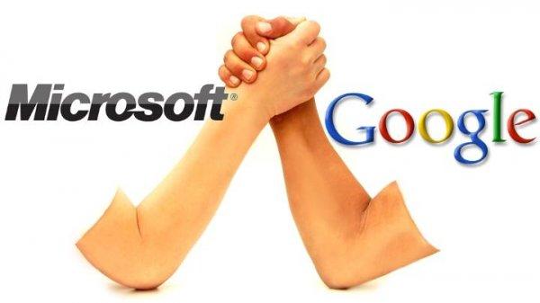 Microsoft и Google договорились не жаловаться друг на друга