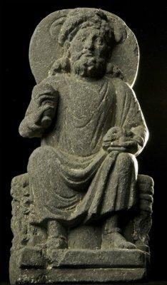 В Пакистане найдено древнее изображение Будды на коне