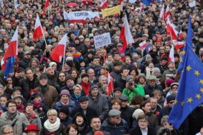 Антиправительственная акция прошла в Варшаве