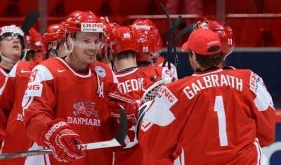 На ЧМ-2016 по хоккею Дания победила Норвегию со счетом 3:0