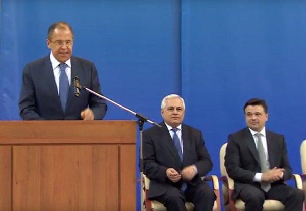 Сергей Лавров выступил на церемонии открытия нового корпуса МГИМО