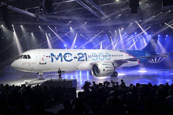 В Иркутске представили новейший российский пассажирский самолет МС-21