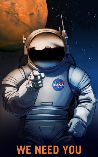 В NASA выпустили серию плакатов для приглашения людей в команду по освоению Марса