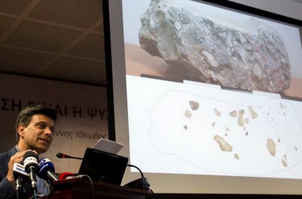 На юге Греции нашли возможный фрагмент потерянного трона правителей Микен